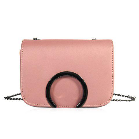 Cheap Flap Chains Cross Body Bag PINK