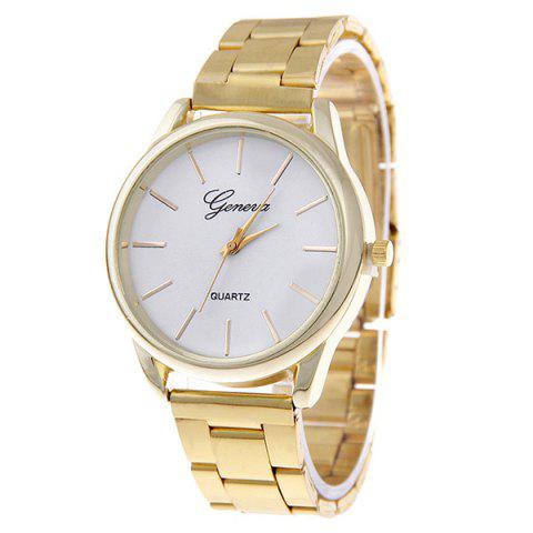 Quartz Watch with Steel Band - Golden