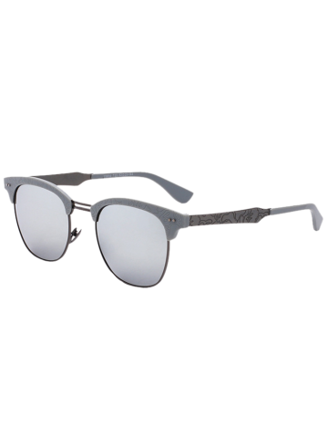 Butterfly Mirrored Sunglasses with Carve Leg - Silver