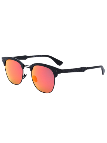 Butterfly Mirrored Sunglasses with Carve Leg - Jacinth - S