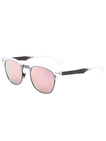 Butterfly Mirrored Sunglasses with Carve Leg - Pink