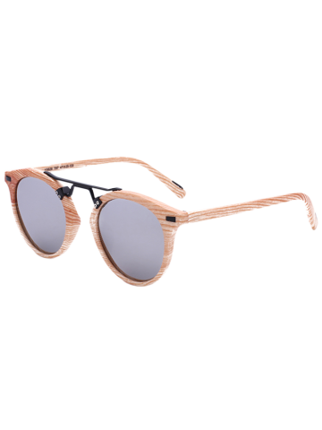 Mirrored Sunglasses with Marble Pattern - Silver