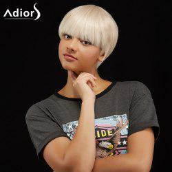 Adiors Short Silky Straight Hairstyle Full Bang Synthetic Wig