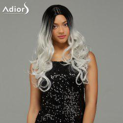 Adiors Long Wavy Middle Part Gradient Synthetic Wig