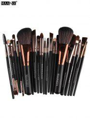 MAANGE 22 Pcs Eye Makeup Brushes Set - COFFEE