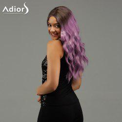 Adiors Wavy Middle Part Long Gradient Synthetic Wig