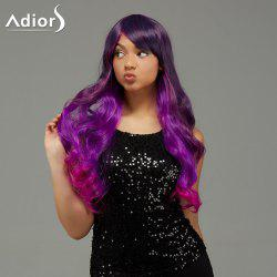 Adiors Long Wavy Ombre Side Bang Capless Synthetic Wig