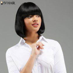 Siv Hair Short Neat Bang Tail Adduction Straight Human Hair Wig