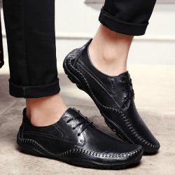 PU Leather Stitching Casual Shoes -
