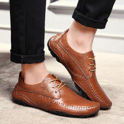 PU Leather Stitching Casual Shoes