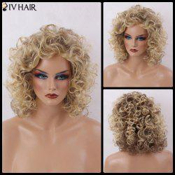 Siv Hair Medium Shaggy Curly Capless Human Hair Wig - COLORMIX