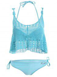Push Up Bikini with Crochet Cover-Up
