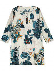 Mini Landscape Print Shift Dress