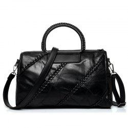 Braid Detail Faux Leather Handbag