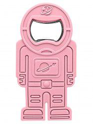 Spaceman Shape Silicone Beer Bottle Opener - PINK