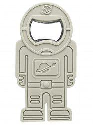 Spaceman Shape Silicone Beer Bottle Opener - GRAY