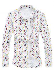 Geometric Circle Print Long Sleeve Shirt