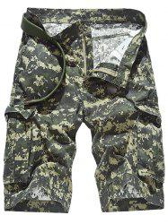 Camouflage Pattern Pockets Design Cargo Shorts