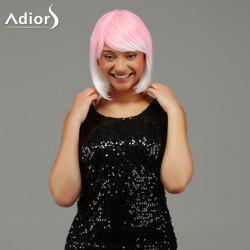 Adiors Short Side Bang Gradient Straight Party Synthetic Wig