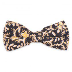 Retro Cirrus Flowers Printed Bow Tie