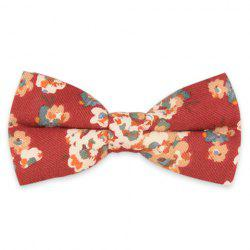Vintage Tiny Bouquet Printing Bow Tie