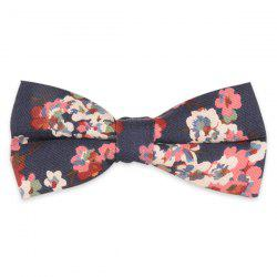 Vintage Tiny Bouquet Printing Bow Tie - CADETBLUE