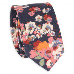 Retro Tiny Bouquet Printed Neck Tie - CADETBLUE