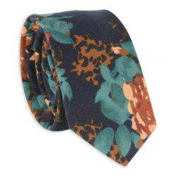 Oil Painting Floral Printed Neck Tie