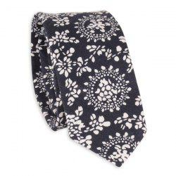 Ethnic Flowers Printed Neck Tie