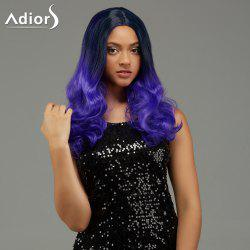 Adiors Long Wavy Middle Part Gradient Capless Synthetic Wig