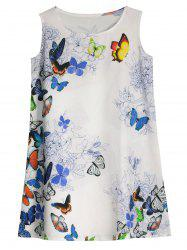 Sleeveless Butterfly Print Mini Dress