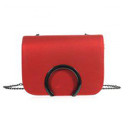 Flap Chains Cross Body Bag - Rouge