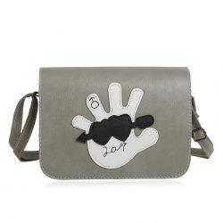 Hand Patches Crossbody Flap Bag