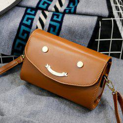 Smile Face Flapped Crossbody Bag