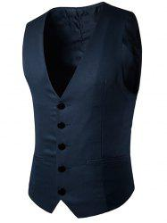 Single Breasted Faux Pocket Waistcoat