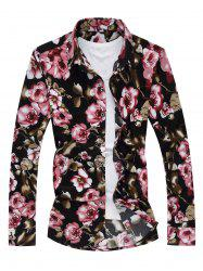 Button Front Floral Shirt