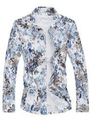 Flowers Stretchy Casual Shirt