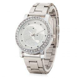 Rhinestone Leopard Pattern Quartz Watch