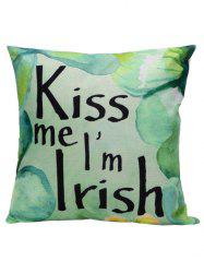 Kiss Me Printed Linen Pillow Cover