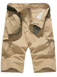 Zipper Fly Multi Pockets Design Cargo Shorts