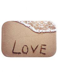 Sandbeach Love Printed Floor Mat - BROWN