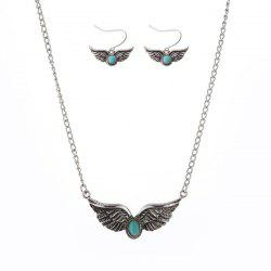 Artificial Turquoise Wings Jewelry Set