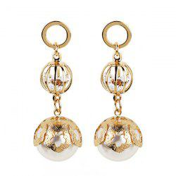 Faux Pearl Ball Drop Earrings