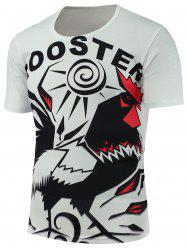 Rooster Printed Short Sleeves T-Shirt