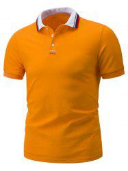 Embroidery Short Sleeve Polo T-Shirt