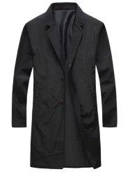 Turndown Collar Single Breasted Long Wind Coat