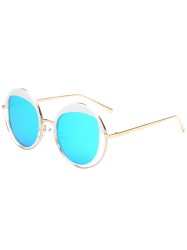 Metallic Round Mirrored Sunglasses