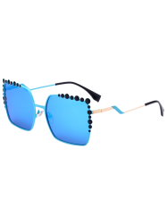 Oversized Mirrored Sunglasses with Bubble Insert
