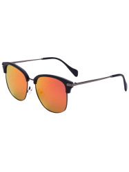 Butterfly Frame Mirrored Sunglasses
