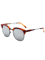 Metallic Insert Club Mirrored Sunglasses